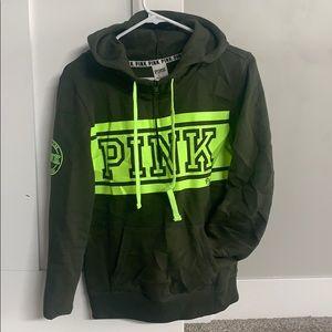 PINK 1/4 zip hoodie - size xs